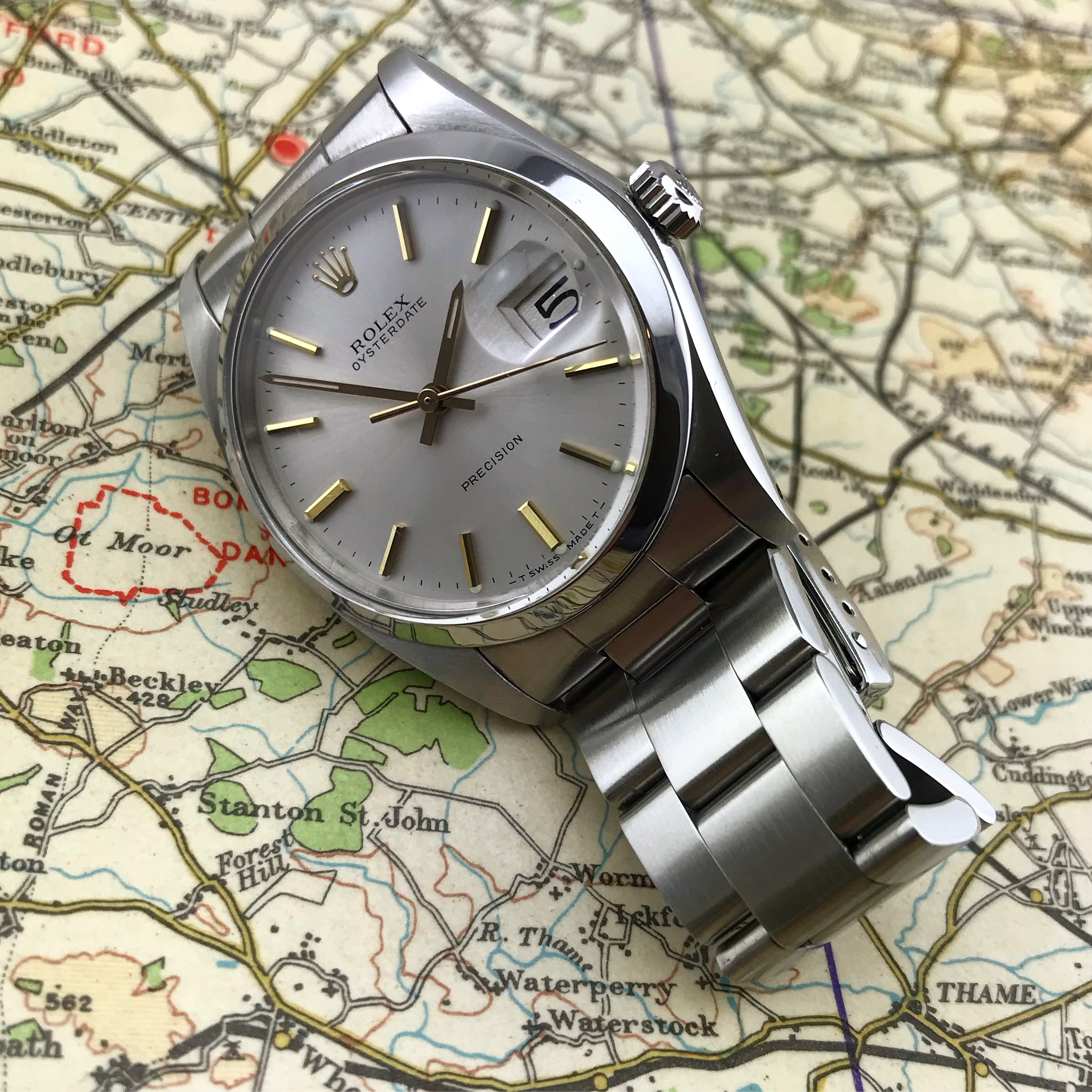 Rolex OysterDate Precision Watch ref 6694 (1978).