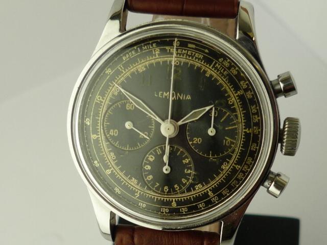 Lemania Chronograph 1940's 50's