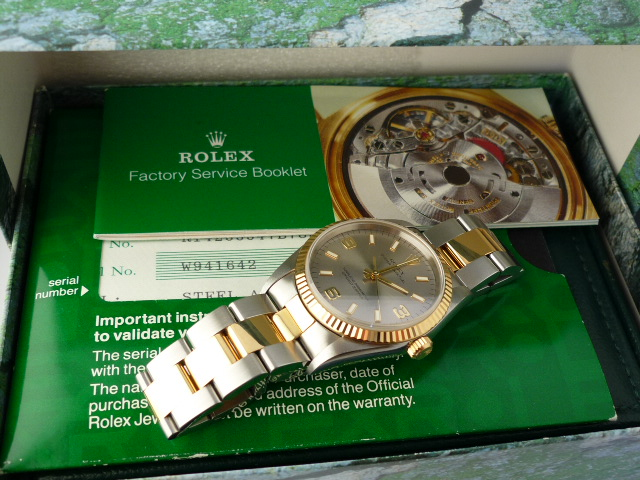 Rolex Oyster Perpetual SS/18K Gold ref 14233  (1994)