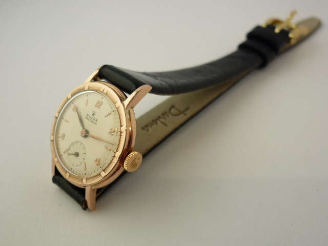 Vintage Rolex Precision 18ct Gold Ladies Watch ref 4327 (1940's)