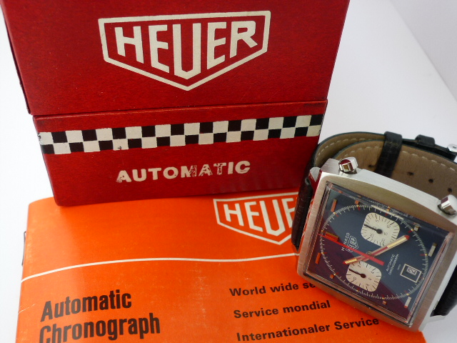Heuer Monaco Automatic Watch ref 1133b (1972) Box & Papers