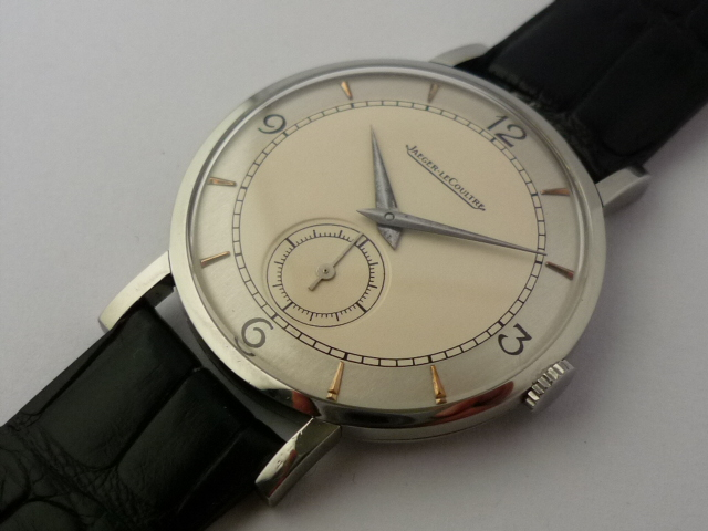 Vintage Jaeger-LeCoultre stainless steel watch (late 1940's)