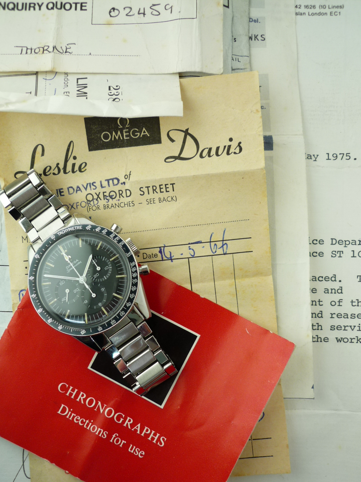 Omega Speedmaster ref 105-003 (1964) Box and Papers