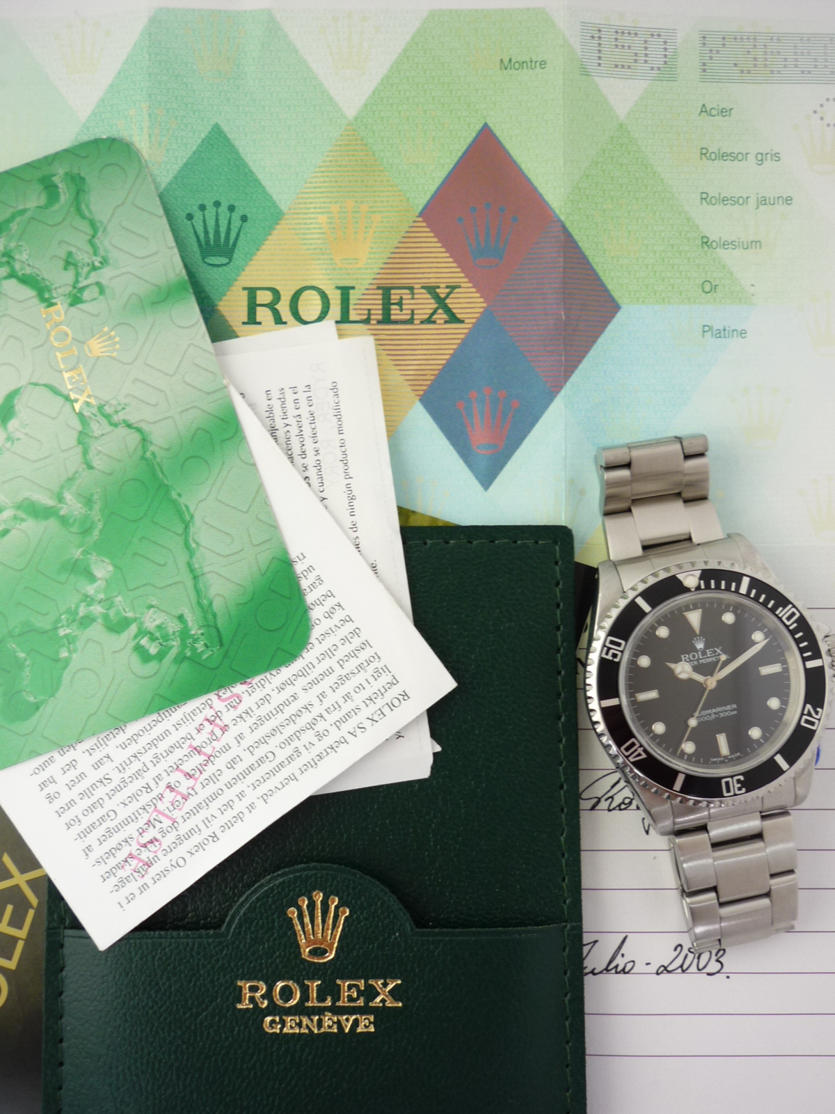 Rolex Submariner watch ref 14060m Box and Papers (2002)