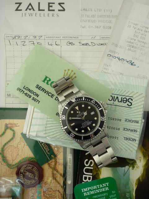Rolex Sea-Dweller watch ref 16660 Box & Papers (1984)
