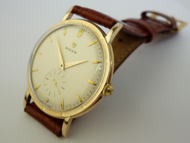 Rolex Precision 9ct Gold watch ref 4325 (1945)