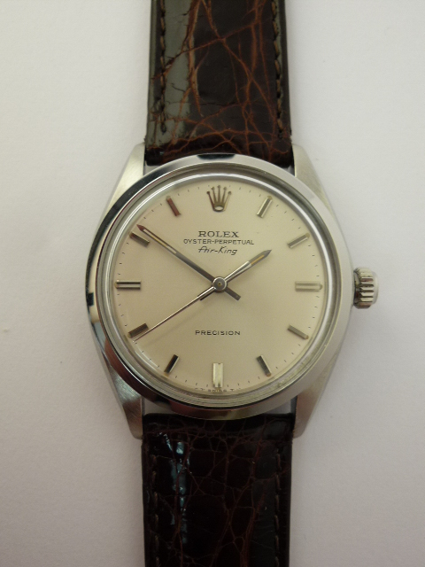 rolex oyster perpetual air king watch ref 5500  1960