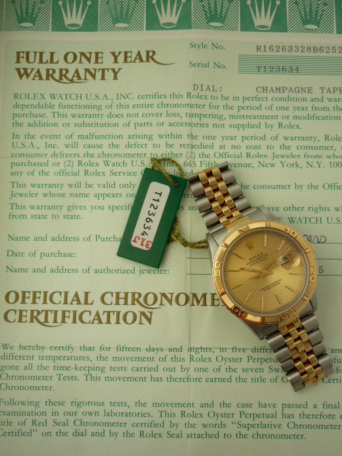 Rolex Oyster Perpetual watch ref 16263 (1996)