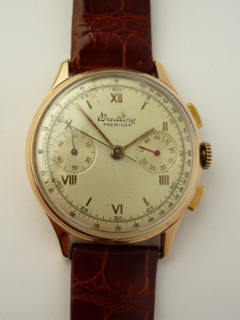 Breitling Premier 18ct rose gold ref 760 (1946)