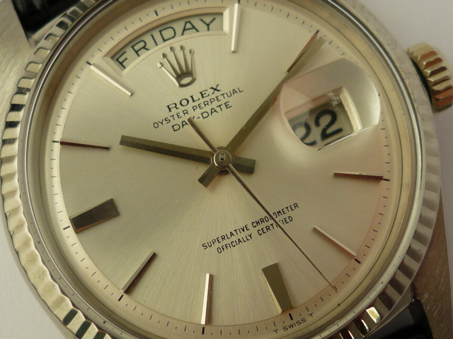 Rolex Day-Date 18ct White Gold Watch ref 1803 (1975)