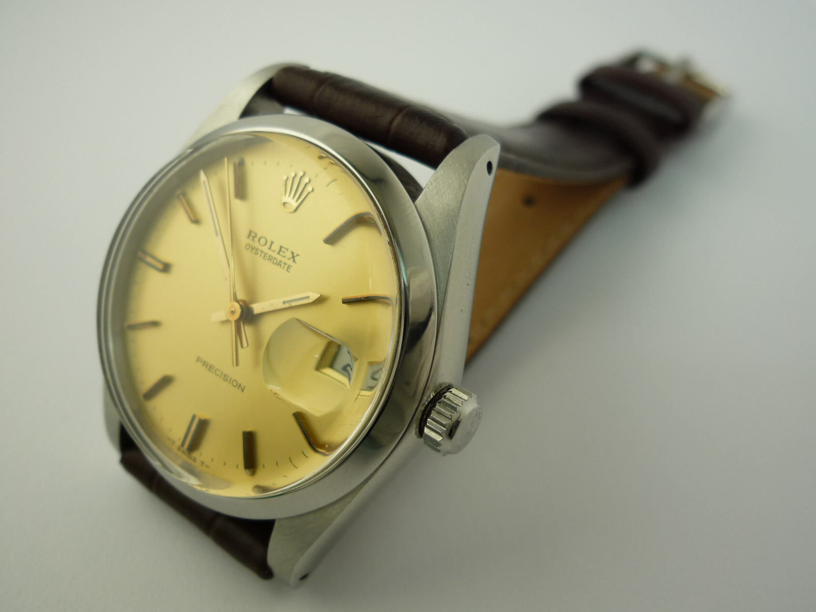 rolex oyster date precision watch ref 6694 1962. Black Bedroom Furniture Sets. Home Design Ideas