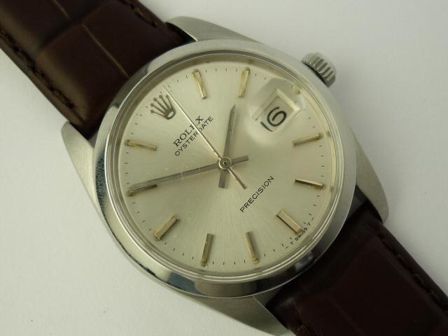 Vintage Rolex OysterDate precision watch ref 6694 (1971).