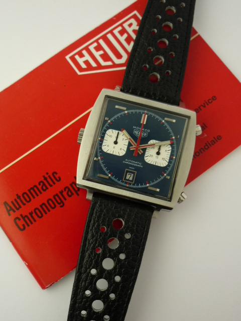Heuer Monaco Automatic Chronograph ref 1133 (1972) + Papers