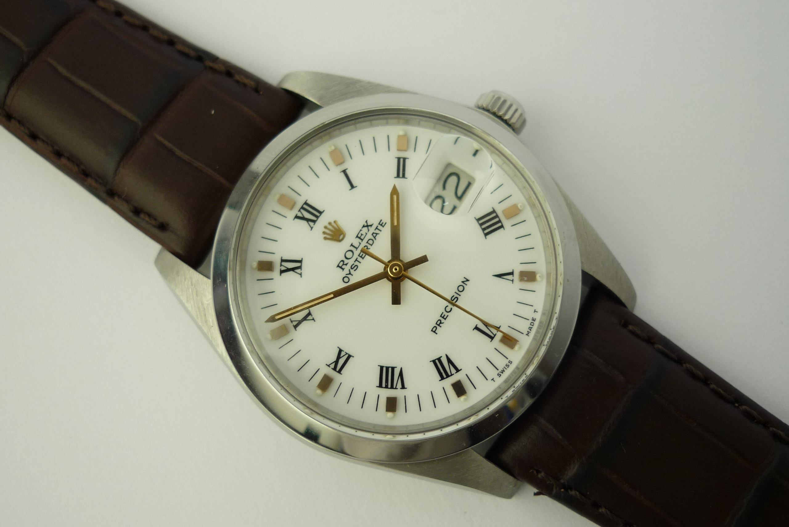 Rolex OysterDate precision watch ref 6694 (1983).