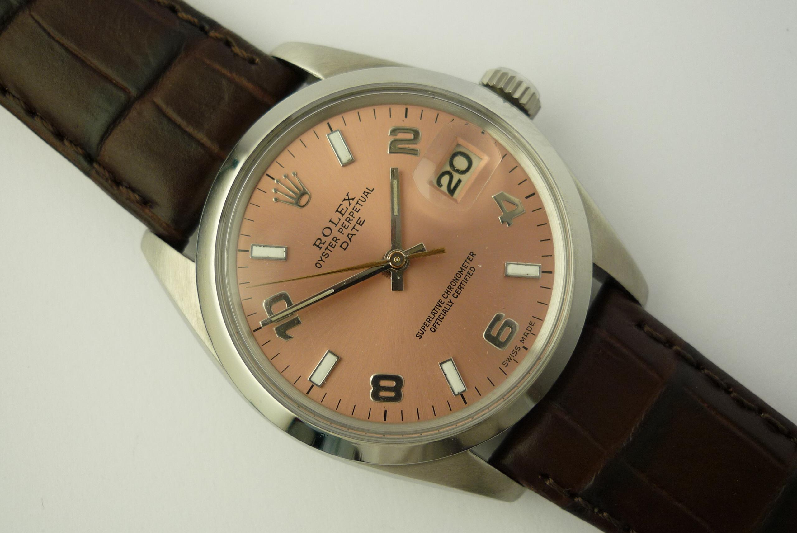 Rolex Oyster Perpetual Date ref 1500 (1967).