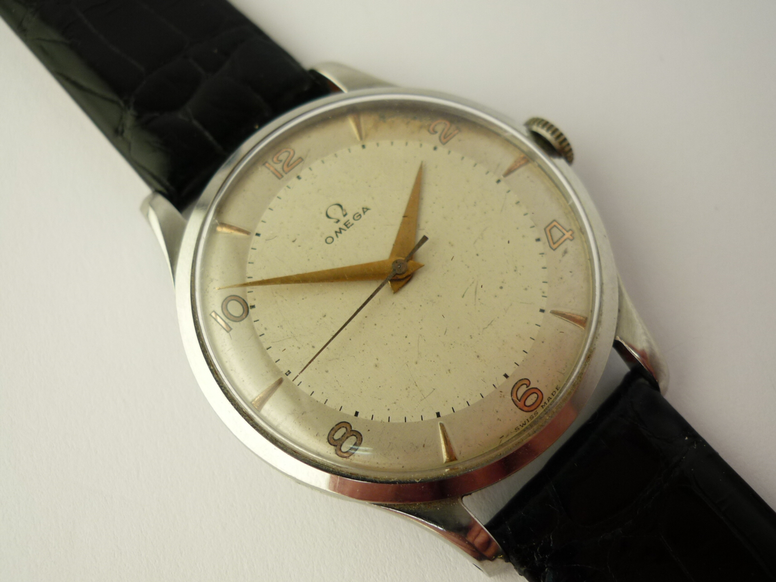 Omega Stainless steel Watch ref 2256-2 (1947)