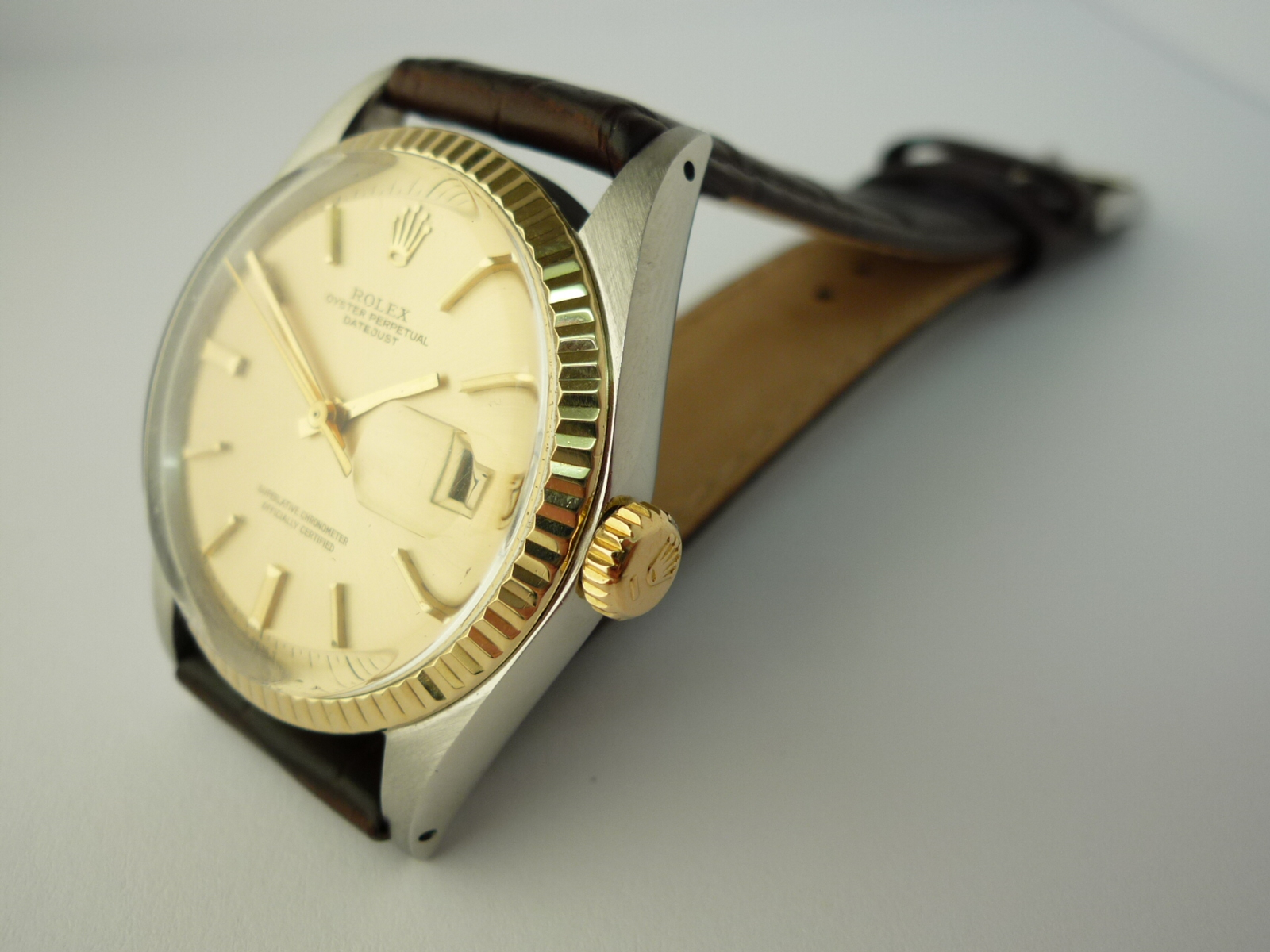 Rolex Oyster Perpetual DateJust watch ref 16013 (1972) + Papers