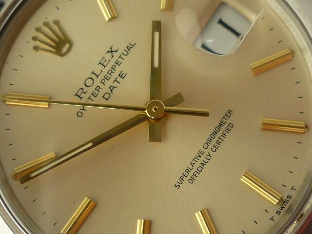 Rolex Oyster Perpetual Date ref 1500 (1973).