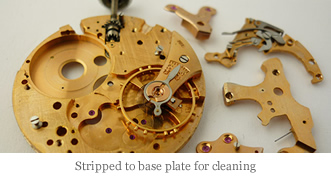 <p>&nbsp;Stripped to base plate for cleaning</p>