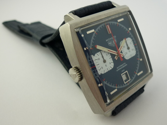 Heuer Monaco Automatic Chronograph ref 1133 (1972) + Papers